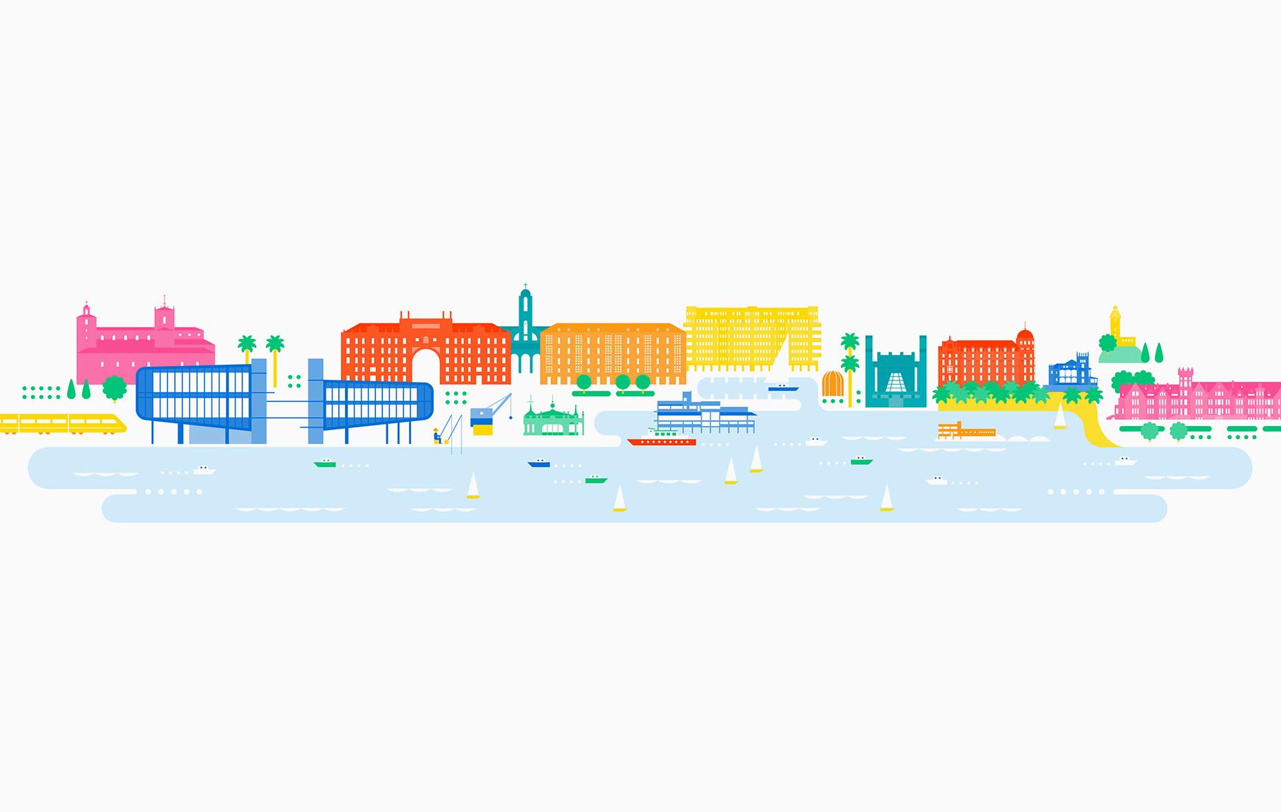 Santander. Ilustración para diseño de productos. Centro Botín, 2017